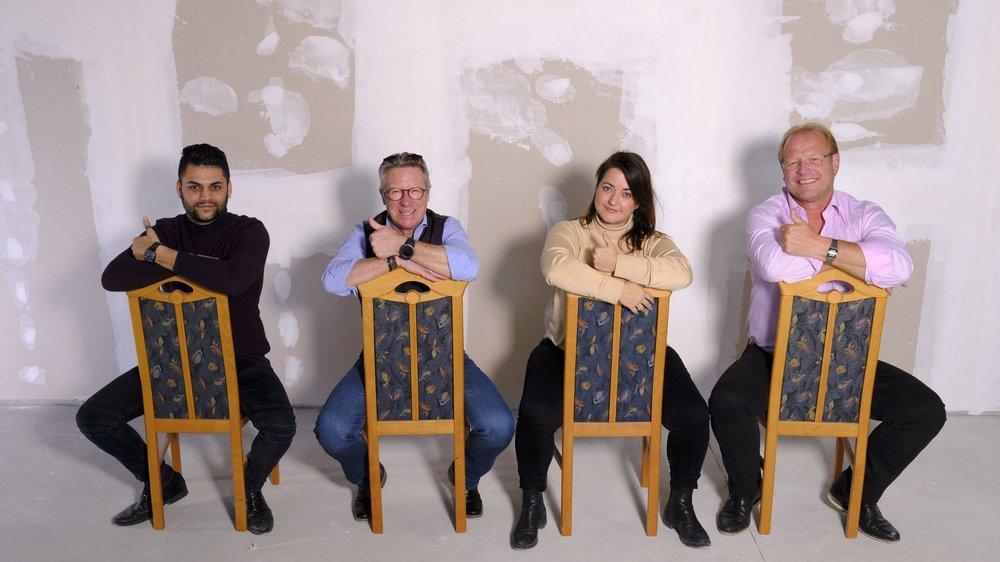 Naveen Begni, Eric Leuba, Bruna Raccio et Carlo Monnat (de gauche à droite) sont les capitaines de la Fête des vendanges cette année.