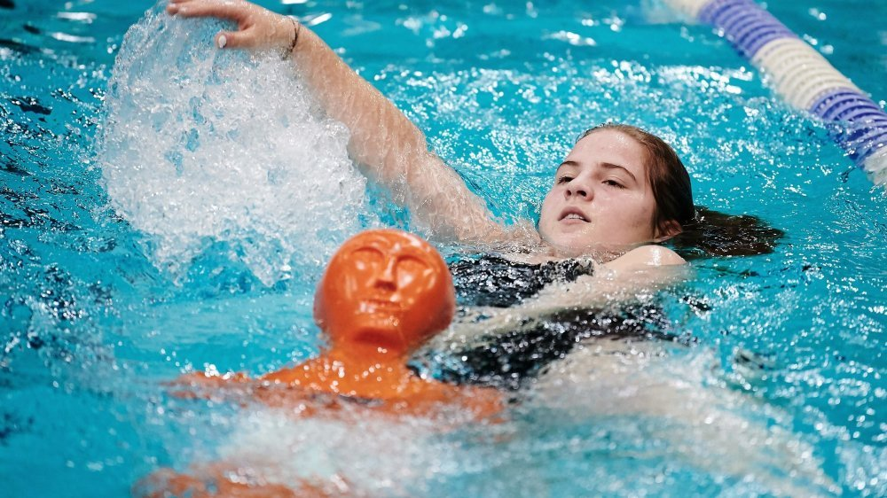 Le sauvetage est une authentique discipline sportive, comme la natation.
