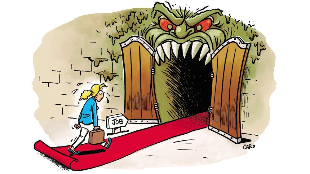 Pour les personnes harcelées, pousser la porte du bureau c'est entrer en enfer.