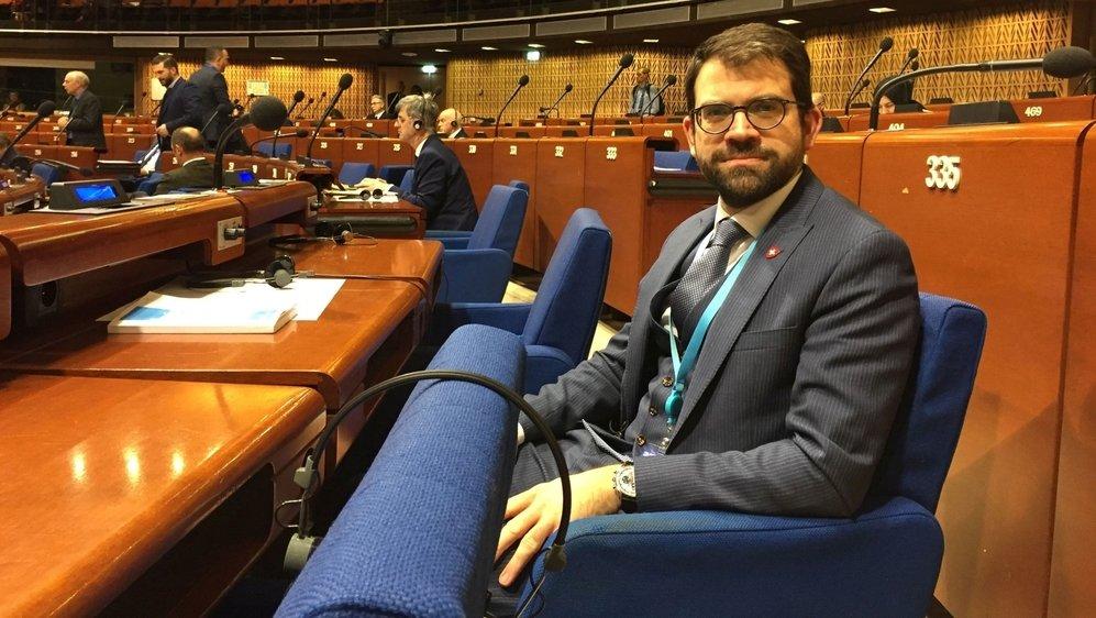 Depuis janvier dernier, le conseiller national PLR neuchâtelois Damien Cottier siège à l'Assemblée parlementaire du Conseil de l'Europe.