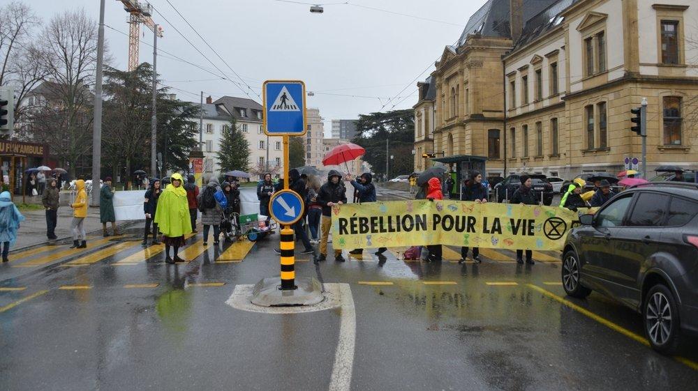 L'action d'Extinction Rebellion avait eu lieu jeudi 5 mars 2020, à Neuchâtel.