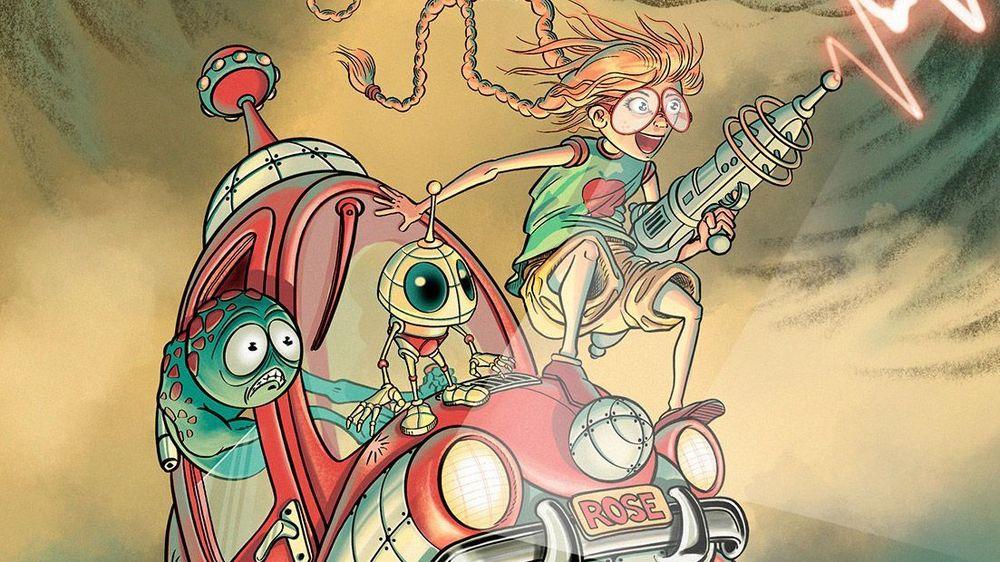 Michaël Terraz travaille déjà sur le tome 2 de la BD: en témoigne ce dessin dévoilant Rose Pom munie de son laser.