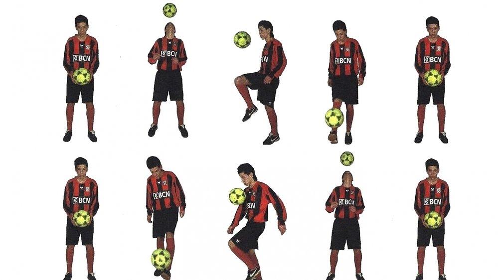 """Des exercices réalisés par Max Veloso figurant dans le cahier """"technisup"""" sont proposés aux joueurs de l'ANF."""