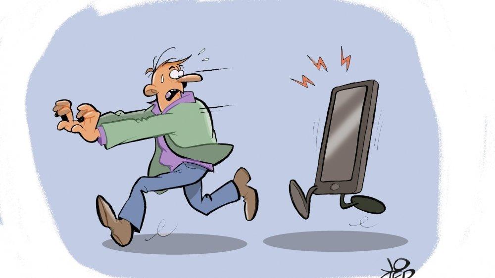 Ceux qui refusent d'avoir un smartphone développent souvent des stratégies pour pouvoir utiliser celui d'un proche.