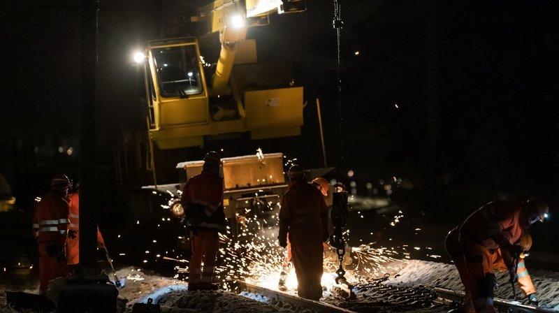 Entre Neuchâtel et Colombier, notre nuit sur les rails avec les ouvriers des CFF