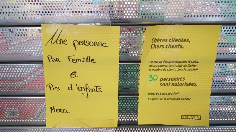 La Chaux-de-Fonds: les enfants peuvent bien entrer dans le Denner des Eplatures