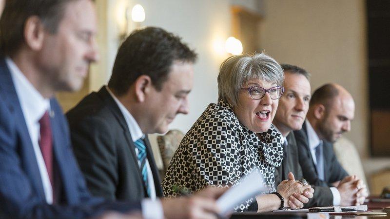 Tous les conseillers d'Etat ont tenu à rappeler les mesures recommandées pour lutter contre le coronavirus.