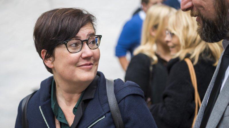 Martine Docourt, candidate à la vice-présidence du PS suisse