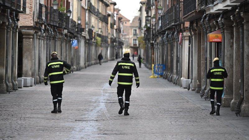 Le nombre de cas confirmés est passé à 8744 en Espagne.