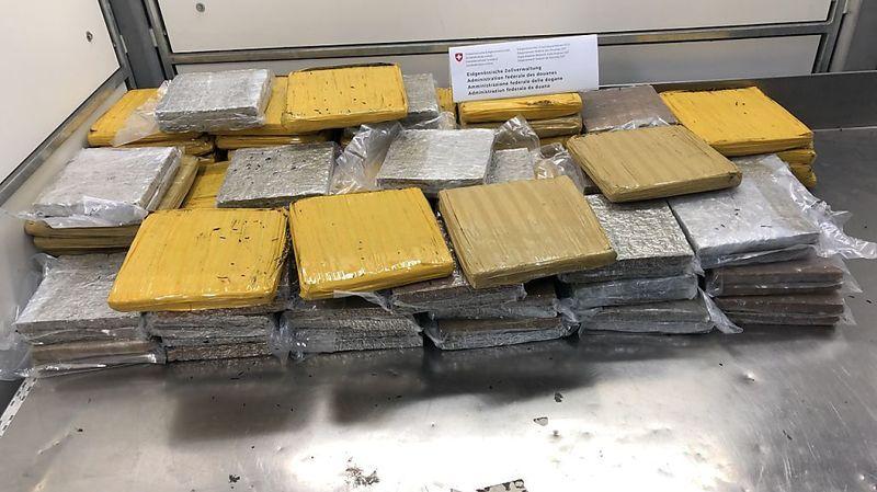 Plus de 80 kg de marijuana découverts dans le fret à Zurich-Kloten