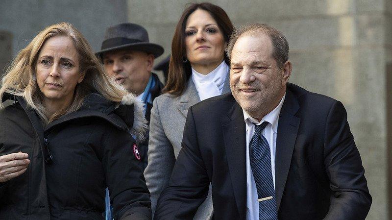 Harvey Weinstein lors de son procès en février dernier.