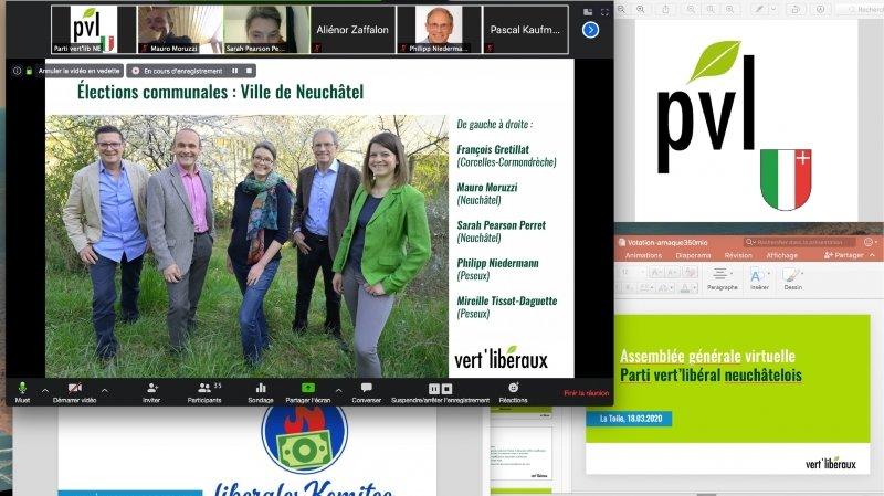 L'assemblée générale des Vert'libéraux neuchâtelois s'est tenue via internet