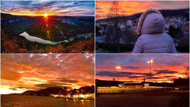 Les Neuchâtelois fans des couchers de soleil