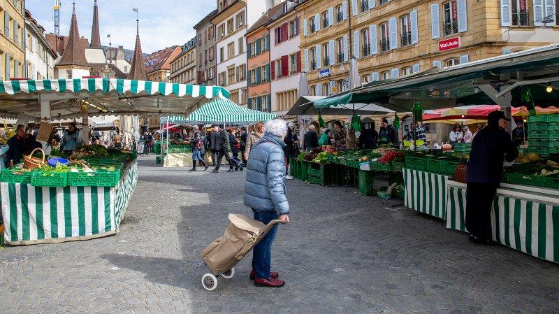Le marché de Neuchâtel ne reviendra pas la semaine prochaine.