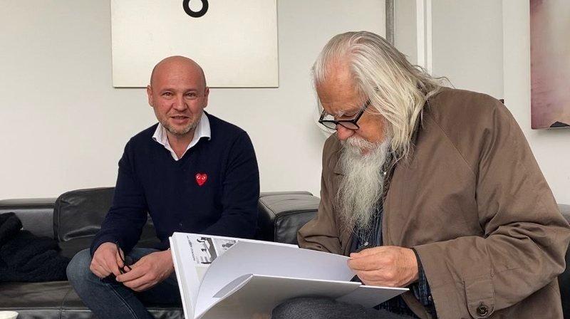 Neuchâtel: rencontre avec Olivier Mosset à la galerie du Griffon