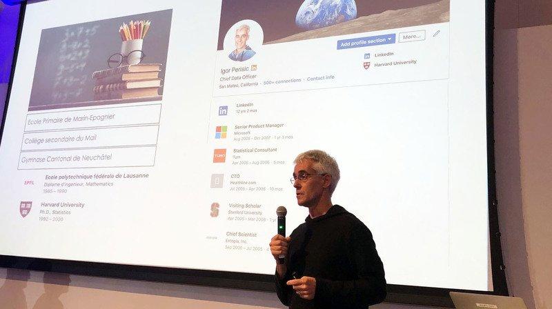 Le Forum des entrepreneurs de l'Entre-deux-Lacs avec un des patrons de LinkedIn