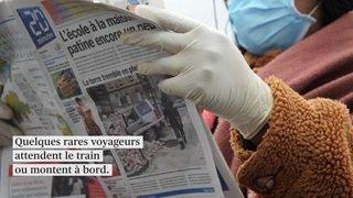 Coronavirus: gares et trains déserts en Suisse romande