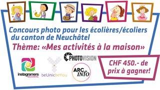 Concours photo pour les écolières/écoliers du canton de Neuchâtel