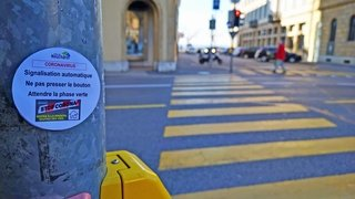 Coronavirus: plus besoin de presser pour traverser la route à Neuchâtel