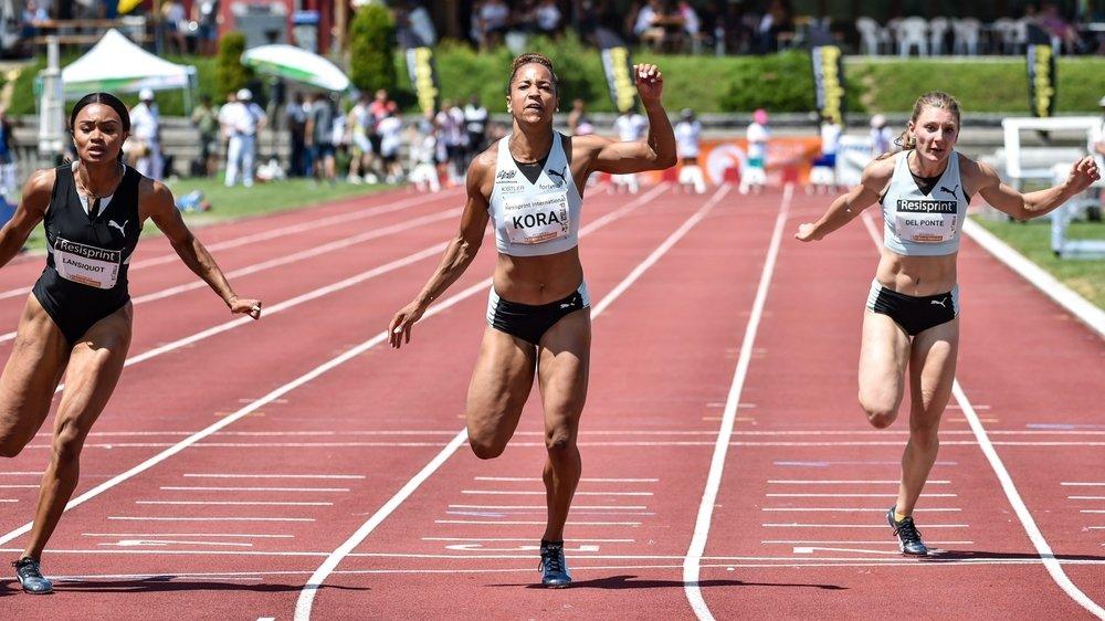 On pourrait revoir des athlètes suisses disputer des meetings, comme ici Salomé Kora, à La Chaux-de-Fonds.