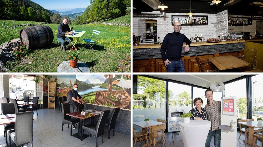 Quatre tenanciers du canton de Neuchâtel livrent leurs impressions entre espoir et appréhension sur la réouverture de leur restaurant.