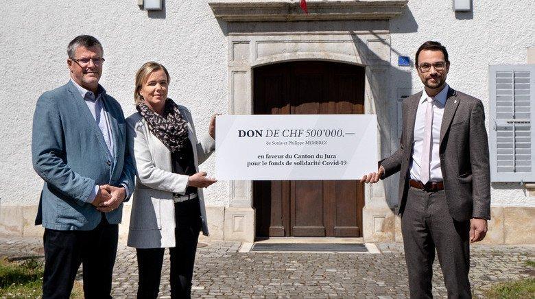 Coronavirus: un don privé de 500000francs pour l'Etat jurassien