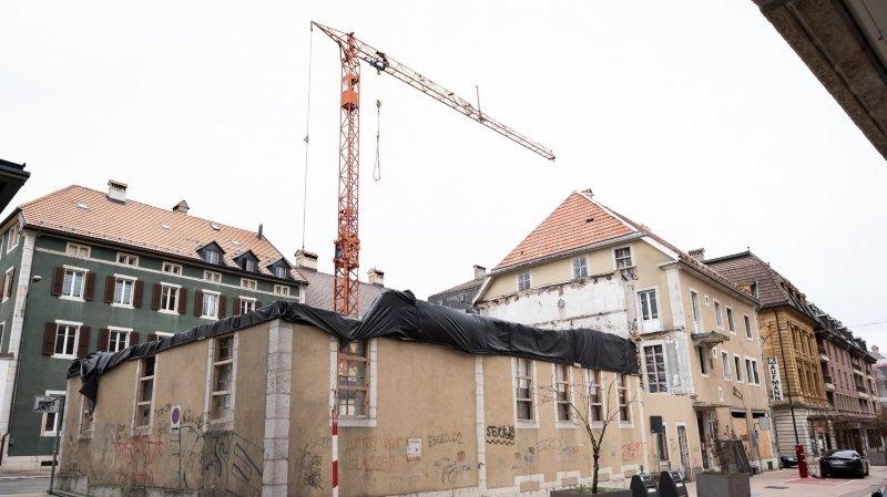 Reprise du chantier Kaufmann, à La Chaux-de-Fonds