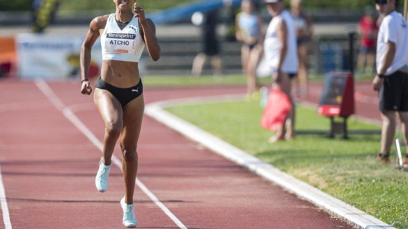 Les athlètes, comme ici Sarah Atcho lors du 200m femmes du 40eme meeting d'athletisme Resisprint International du 30 juin 2019, ont hâte de reprendre la compétition. Swiss athletics aussi, et l'organe dirigeant propose une reprise dès juin.