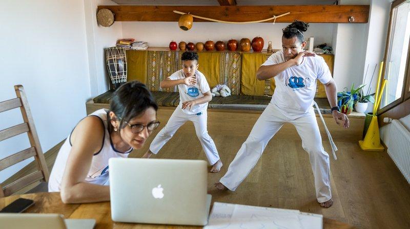 Boudry: la capoeira se réinvente et se pratique aussi en ligne