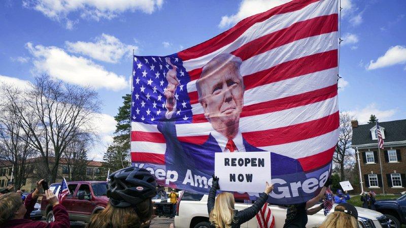 Etats-Unis: encouragées par Trump, les manifs anti-confinement se multiplient