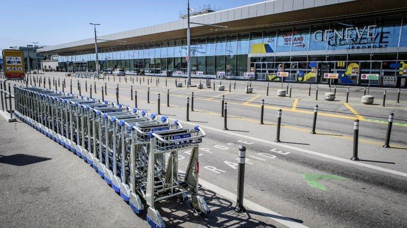 Coronavirus: l'aéroport de Genève réduit à l'état de ville fantôme