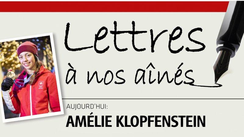 Amélie Klopfenstein écrit à nos aînés