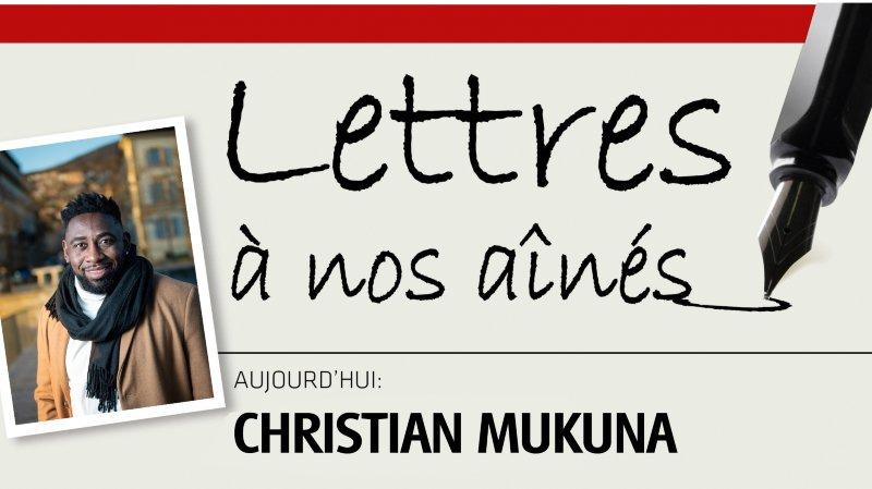 L'humoriste neuchâtelois Christian Mukuna écrit à nos aînés