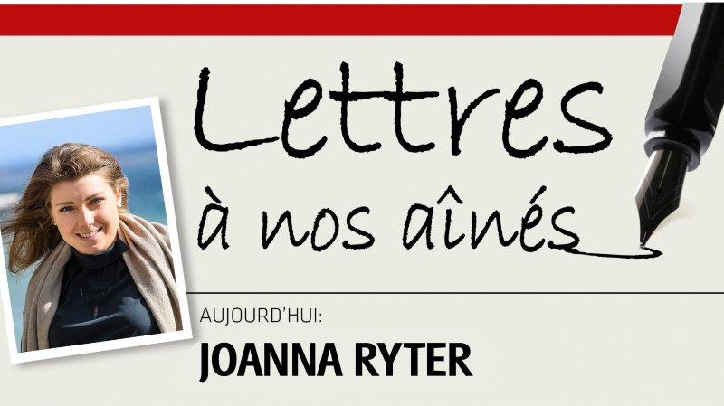 La triathlète neuchâteloise Joanna Ryter écrit à nos aînés