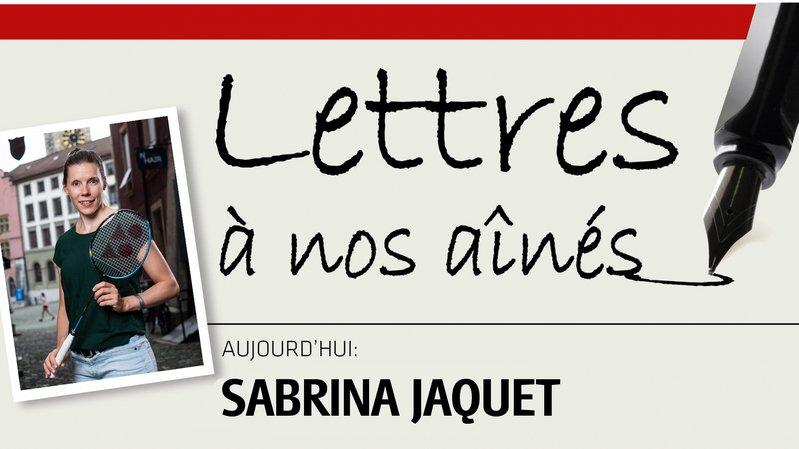 La sportive olympique Sabrina Jaquet écrit à nos aînés