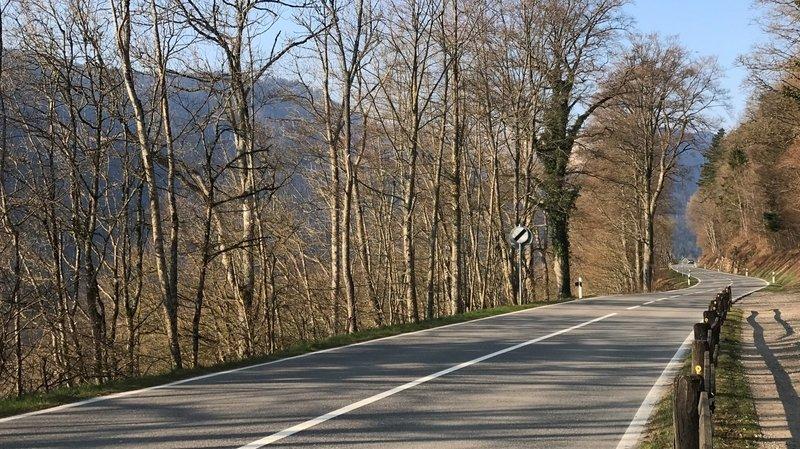 La route cantonale entre le Val-de-Travers et Rochefort sera fermée durant deux jours