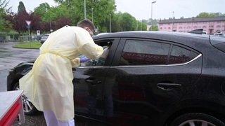 Ouverture du premier drive-in de dépistage Covid de Suisse romande à Yverdon-les-Bains