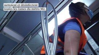 Coronavirus: le métro M2 de Lausanne entre désinfection et affluence