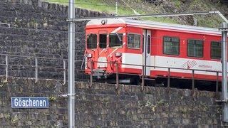 Eboulement à Göschenen (UR): trafic Matterhorn-Gotthard-Bahn perturbé