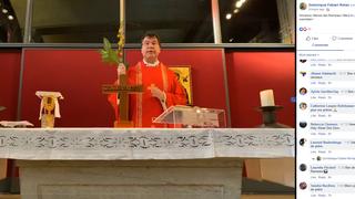 Coronavirus: il donne la messe en direct sur Facebook tous les matins
