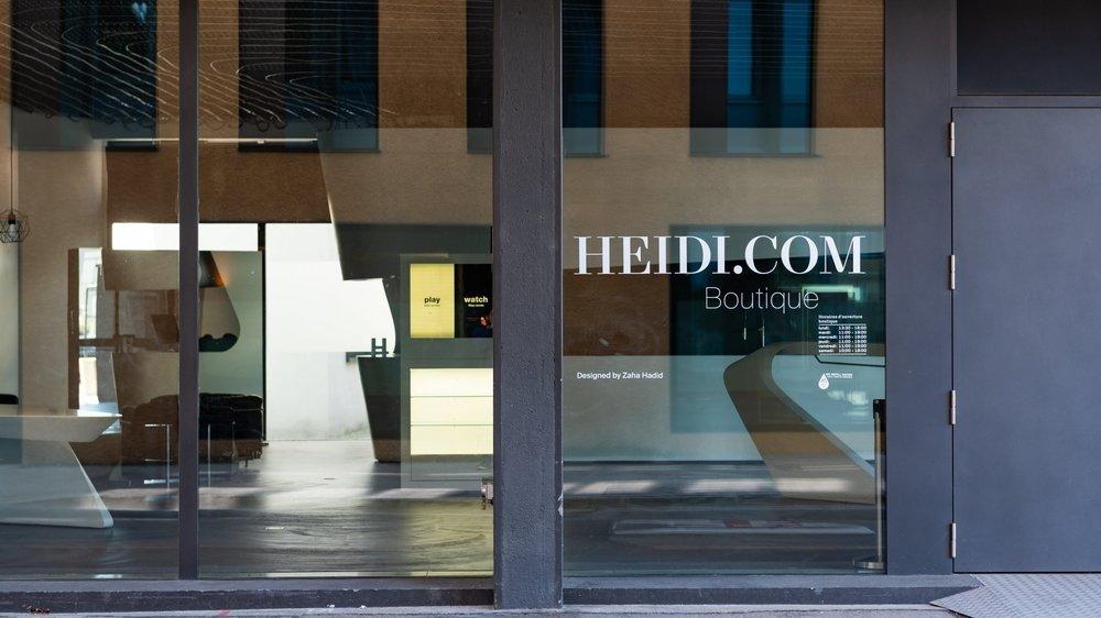 La boutique d'Heidi.com est vide.