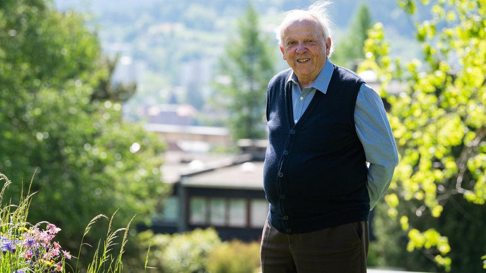 Alain Tissot, sur les hauteurs de La Chaux-de-Fonds où il vit depuis près de 80 ans.