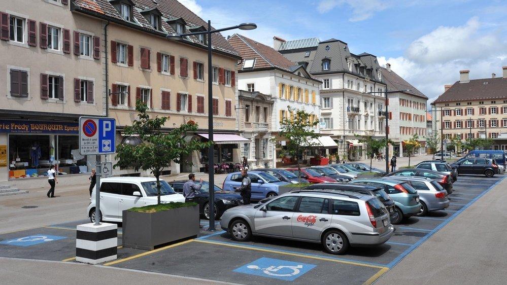 La place du Marché de La Chaux-de-Fonds. Archives: Richard Leuenberger