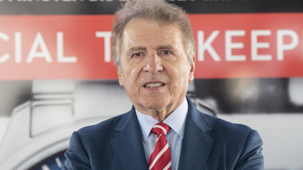 François Thiébaud, président et directeur de Tissot, chronométreur des championnats du monde de hockey.