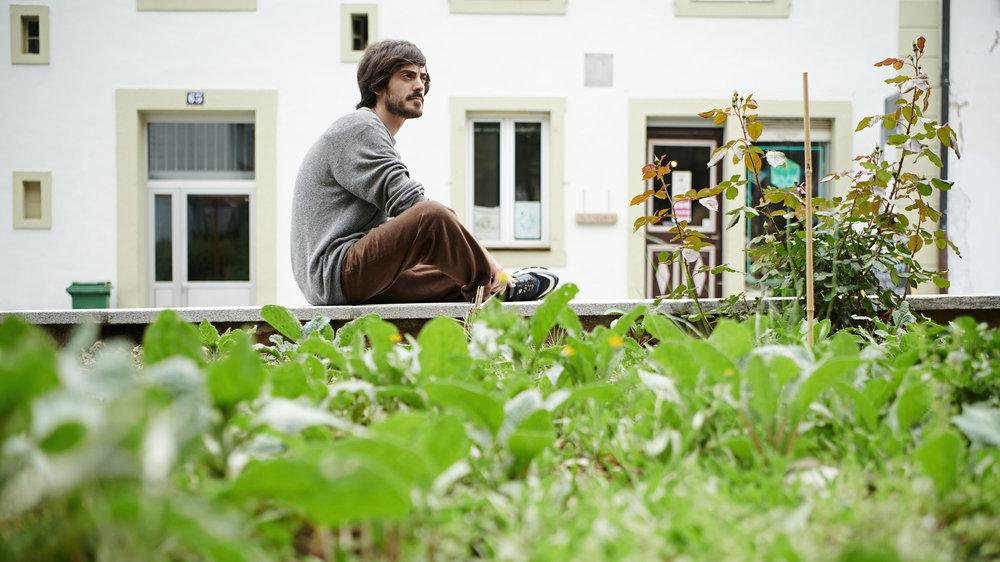 Célestin Jobin, président de l'association des Jardins du Mycélium.