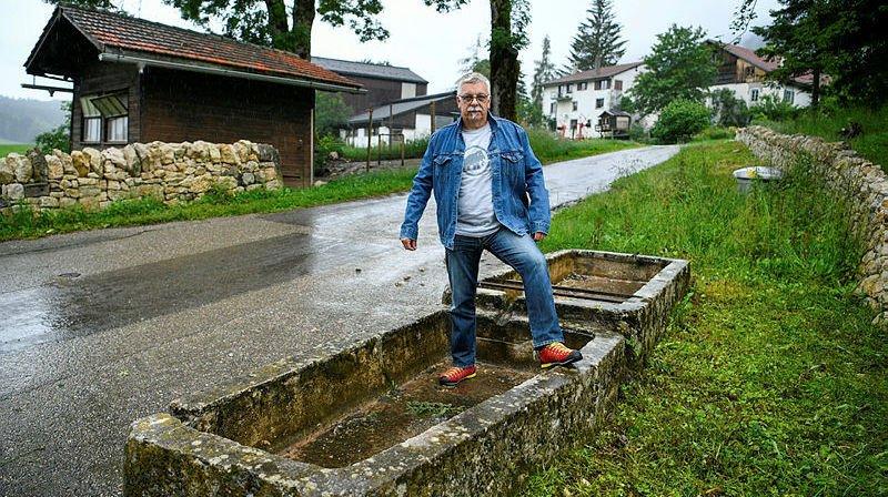 Philippe Frossard a l'impression que son village est toujours relégué au second plan.