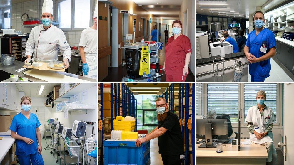 Six employés de l'hôpital racontent comment ils ont vécu la crise du Covid-19.