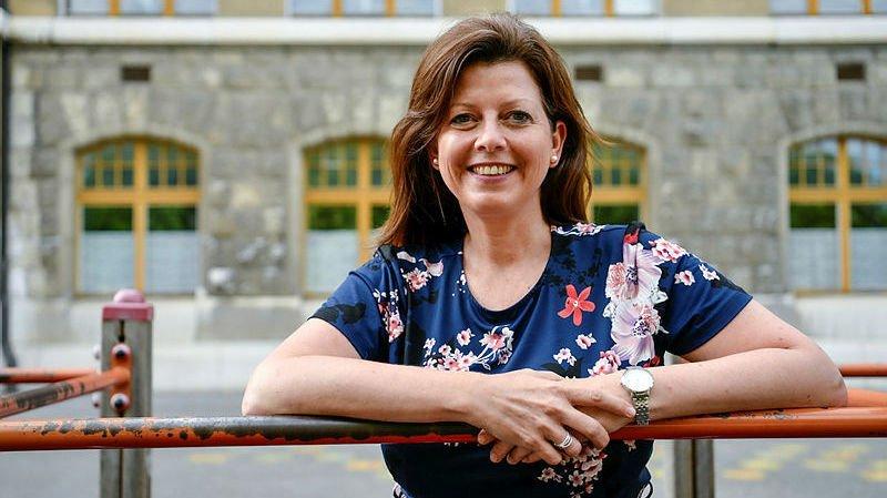 Myriam Facchinetti, enseignante en 3e Harmos au collège des Parcs de Neuchâtel.
