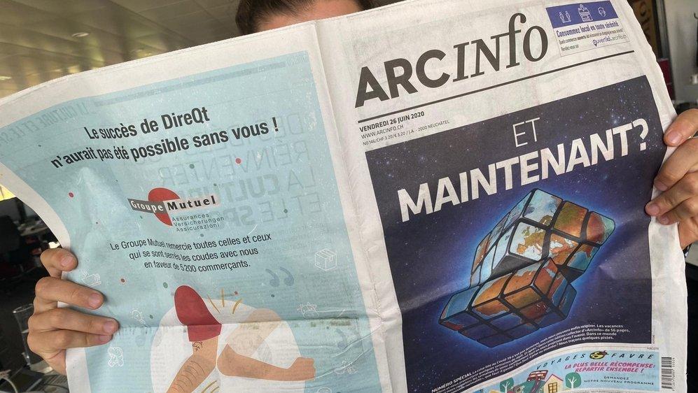 Le site d'«ArcInfo» a été consulté par plus de 700 000 visiteurs uniques au mois de mars.
