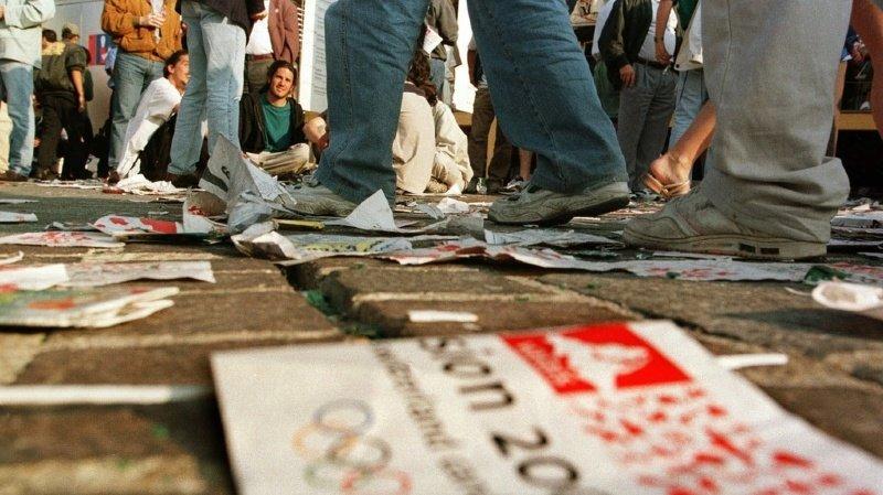 Tout était prêt sur la Place de la Planta de Sion, où quelque 15'000 personnes s'étaient massées devant un écran géant en ce samedi matin.